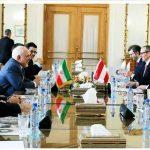 دور اول مذاکرات وزرای خارجه ایران و اتریش آغاز شد