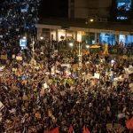 تجمع هزاران معترض مقابل اقامتگاه نتانیاهو