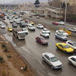 مرکز کنترل راهور از بارش بازان در محور مواصلاتی ۷ استان خبر داد