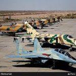 اخبار رزمایش هوایی ارتش| انهدام اهداف دشمن با بمب «یاسین ۹۰»/ تمرین رهگیری هوایی در ارتفاع پست